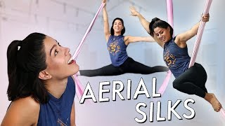 AERIAL SILKS WORKOUT | MeganBatoon