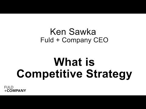 What We Do: Competitive Strategy Consulting