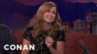 """Jenna Fischer On The New Generation Of """"Office"""" Fans  - CONAN on TBS"""