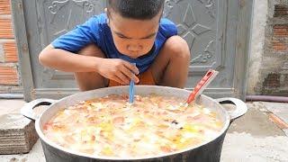 Trẻ Trâu Làm Nồi Trà Sữa Trân Châu Khổng Lồ Uống Siêu Sướng | TQ97