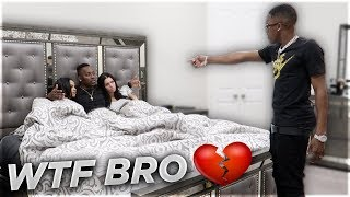 CAUGHT CHEATING IN BED WITH CARMEN FROM CARMEN & COREY PRANK 💔