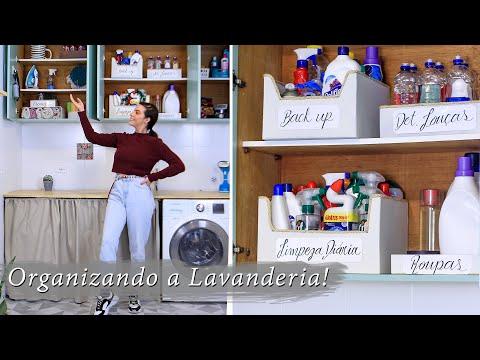 DIY organização lavanderia