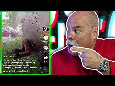 Real Plumber Reacts to AWESOME Plumbing on Tik Tok