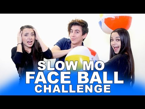FACE BALL CHALLENGE - Merrell Twins - feat. Bobby Mares
