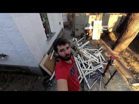 Как спилить дерево, ломаю окна и двери  Челендж   осенняя уборка на участке⚠️ photo