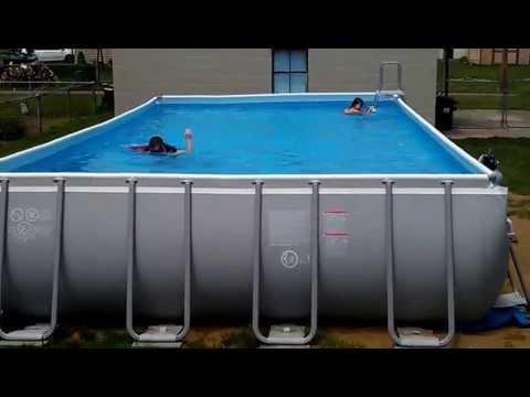 Pool Intex Ultra Frame 32x16 52 Quot Deep Youtube