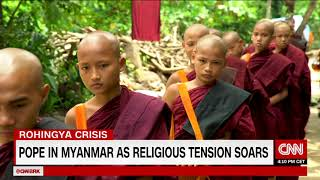 Pope travels to Myanmar over treatment of Rohingya Muslims