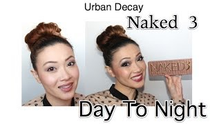 Urban Decay Naked 3 Tutorial **Day and Night **, naked3, urbandecay, urbandecaynaked, nakedpalette, eyeshadow, rose, rosegold, pink