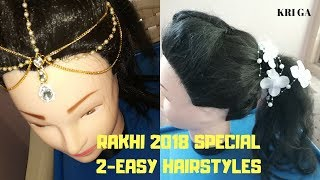 Raksha bandhan special hairstyle|how to style maang tikka and other hair accessories - YouTube