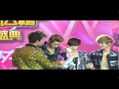 EXO-M Kris and Lay Crying
