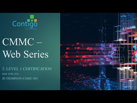 CMMC Webinar - Become Level 1 Certified