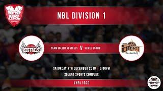 NBL LIVE / Solent Kestrels vs Hemel Storm