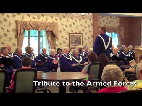 American House Choir Flag Day Performance