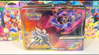 POKEMON SUN AND MOON COLLECTOR'S TIN LUNCH BOX OPENING!!