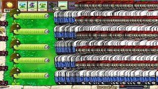 99999 Zomboni Zombie vs Gatling Pea Mod Plants vs Zombies