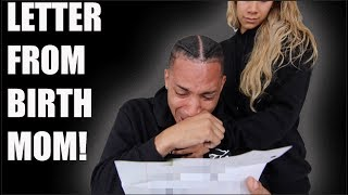 READING LETTER FROM MY BIRTH MOTHER FOR MY BIRTHDAY! (VERY EMOTIONAL)