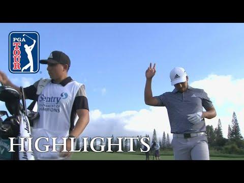 Xander Schauffele?s winning highlights from Sentry 2019