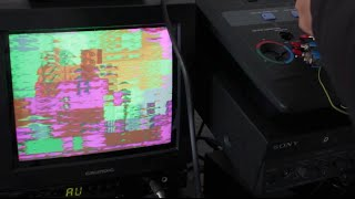 Circuit bent Panasonic WJ-AVE-3 Video FX Generator Demo #TTNM