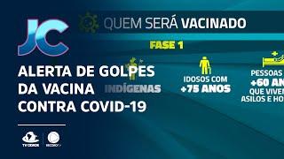 Alerta de golpes da vacina contra Covid-19