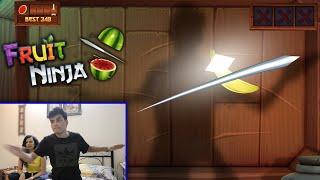 Real Life Fruit Ninja! | SlayyPop