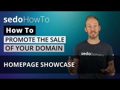 How to promote the sale of a domain with a Homepage Showcase on Sedo