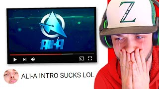 Ali-A reacts to YouTubers using the Ali-A INTRO... (LazarBeam, Ninja + MORE)