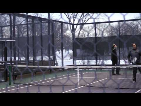 Baby, it's cold outside—time to play tennis