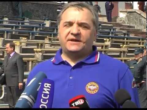 Встреча министра по делам гражданской обороны Владимира Пучкова со спасателями Крыма и Севастополя.