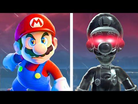 Mario vs. Dark Luigi in Super Mario 3D World + Bowser s Fury (All Fury Luigi Boss Fights)