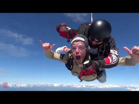 NOBE aloe vera challenge: Fallskärmshoppning med JLC