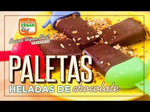 Paletas heladas de chocolate (con granola) - Cocina Vegan Fácil