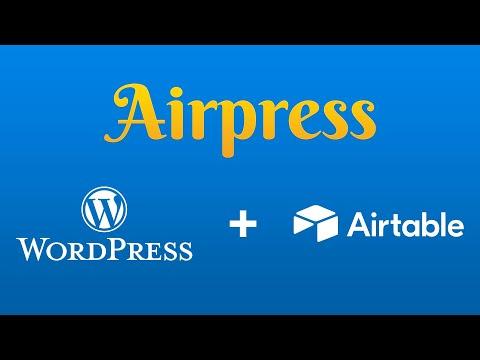 Montando una web sin contenido con Airpress y WordPress