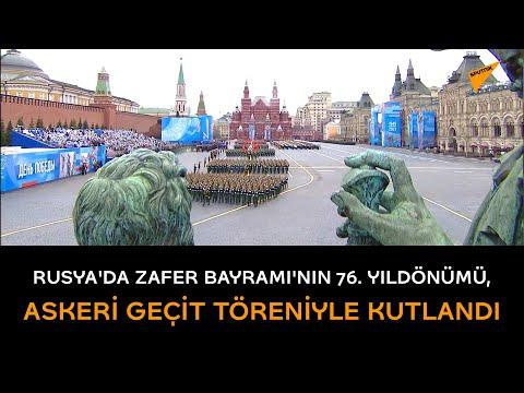 Rusya'da Zafer Bayramı'nın 76. yıldönümü, askeri geçit töreniyle kutlandı