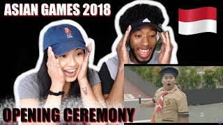 AMERICANS REACT TO INDONESIA OPENING CEREMONY ASIAN GAMES 2018
