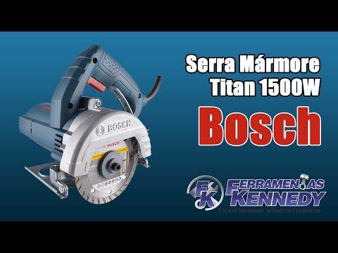 Serra Mármore Titan + Kit Refrigeração e Maleta Bosch - 127V - Vídeo explicativo