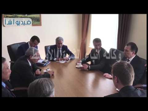 بالفيديو طارق لبيب وزير التجارة خلال لقائه بوزير التجارة البيلاروسى