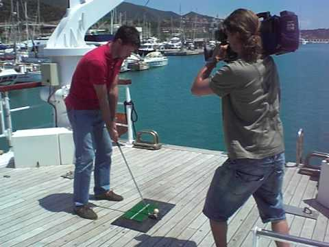 ALBUS GOLF (video 11) Practising on board with ECOBIOBALL