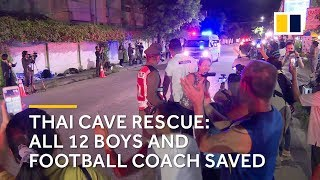 Thai cave rescue: all 12 boys and football coach saved