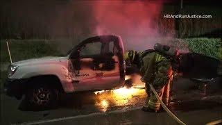 11 25 2017 Truck on fire WB 91 freeway west of Adams St Riverside CA
