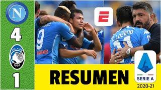 Napoli 4-1 Atalanta. ¡DOBLETE de Hirving Chucky Lozano! Gattuso, feliz con el mexicano   Serie A