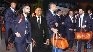 Indian Team Leaves For WORLD CUP 2019 In England   Dhoni, Virat Kohli, Hardik Pandya And More