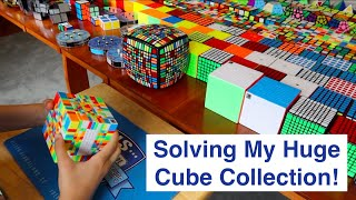 Solving My ENTIRE 400+ Cube Collection!!