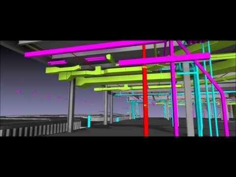 Brickell City Centre - Fire Sprinkler 3D BIM NAVIS Fly Through - 2015 - Video #1