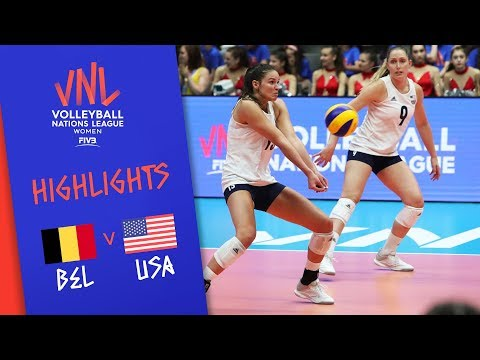 Belgium vs. USA - Game Highlights Women  Week 1   Volleyball Nations League 2019