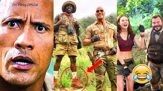 Jumanji 2 - Hilarious Behind the Scenes - Try Not To Laugh with Kevin Hart & The Rock - 2017