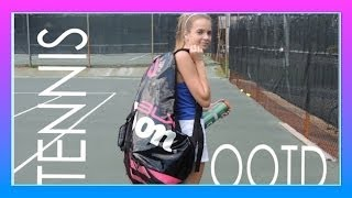 TENNIS Outfit Of The Day + Tennis Practice #Tennis   Let's Play Tennis   jrzgirlz