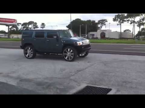 """Tires For 22 Inch Rims >> Hummer H2 on 28"""" Wheels 28s Rims """"STUPID DUMB BIG"""" - YouTube"""