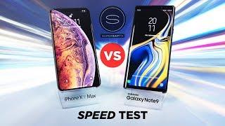 iPhone XS Max vs Galaxy Note 9 SPEED TEST
