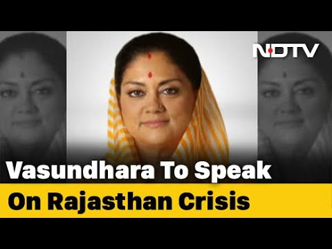 Vasundhara Raje To Attend Key BJP Meet Tomorrow Amid Congress Crisis