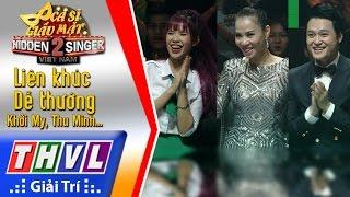 THVL   Ca sĩ giấu mặt 2016 - Tập 17[1]: Lk Dể thương - Khởi My, Thu Minh, Phan Đinh Tùng, Quang Vinh